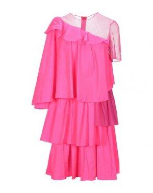 Платье до колена HOUSE OF HOLLAND. Цвет: фуксия