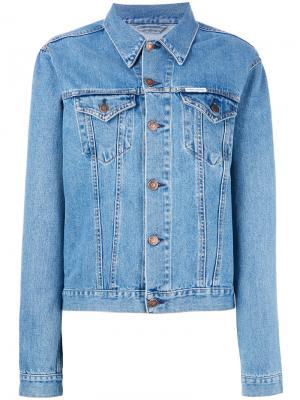 Джинсовая куртка с вышивкой Forte. Цвет: синий