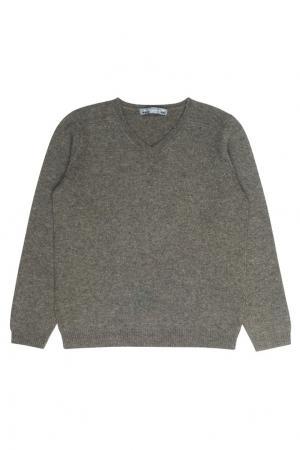 Пуловер из кашемира цвета хаки Bonpoint. Цвет: зеленый