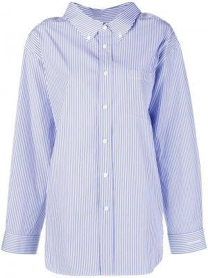 Рубашка с воротником на пуговицах Balenciaga. Цвет: синий