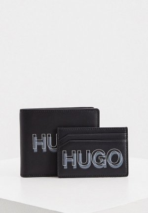 Кошелек и кредитница Hugo GBHM_8cc S card blur. Цвет: черный