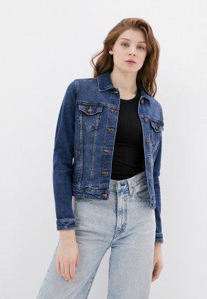Куртка джинсовая Springfield. Цвет: синий