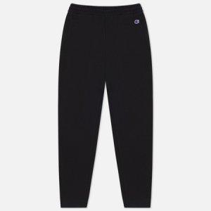 Женские брюки Ribbed Cuffed Stretch Joggers Champion Reverse Weave. Цвет: чёрный