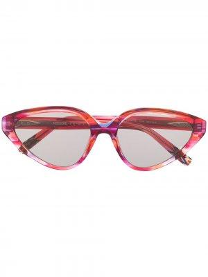 Солнцезащитные очки с абстрактным принтом Missoni. Цвет: красный