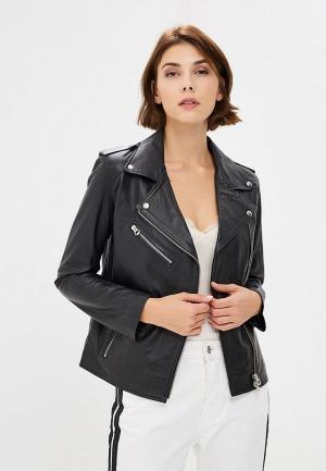 Куртка кожаная Ne.Ra Collezioni NE023EWCMKQ1. Цвет: черный