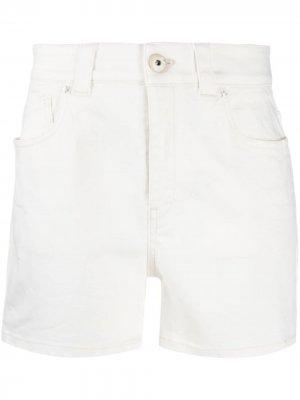 Джинсовые шорты прямого кроя Lorena Antoniazzi. Цвет: белый