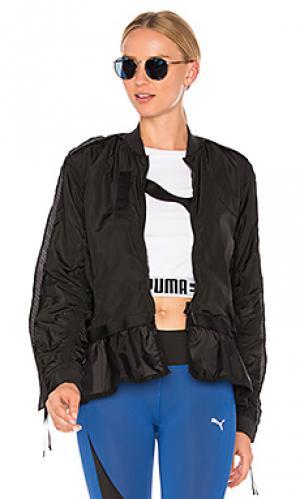 Куртка-бомбер с оборкой xtreme Puma. Цвет: черный