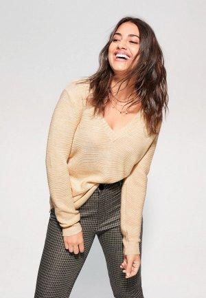 Пуловер Violeta by Mango - VALETI. Цвет: бежевый