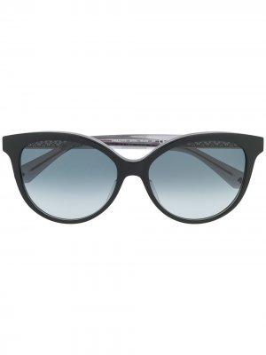 Солнцезащитные очки Kinsley в оправе кошачий глаз Kate Spade. Цвет: черный