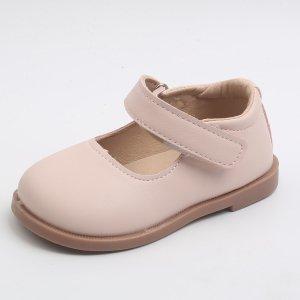 Для девочек Туфли мэри джейн минималистичный SHEIN. Цвет: розовые