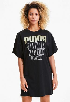 Платье PUMA Rebel Light Weight Tee Dress. Цвет: черный