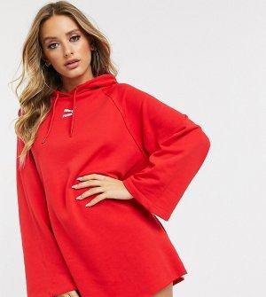 Красное платье с капюшоном эксклюзивно для ASOS-Красный Puma
