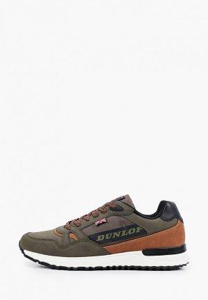 Кроссовки Dunlop. Цвет: хаки