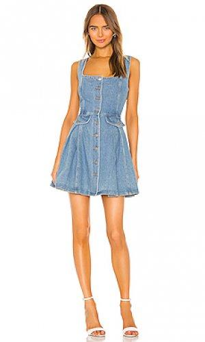 Мини платье peripheral C/MEO. Цвет: синий