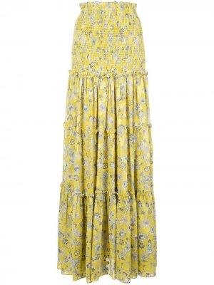 Расклешенная юбка Galarza Alexis. Цвет: желтый