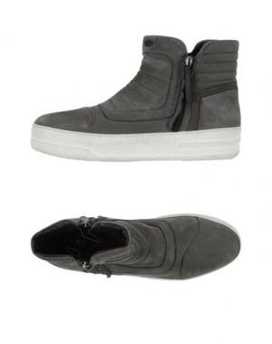 Высокие кеды и кроссовки BRUNO BORDESE. Цвет: серый
