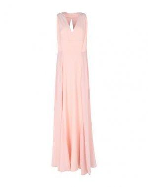 Длинное платье ALESSANDRO LEGORA. Цвет: светло-розовый