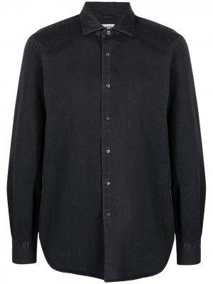 Джинсовая рубашка с длинными рукавами Aspesi. Цвет: черный