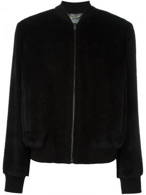 Куртка-бомбер Etro. Цвет: чёрный