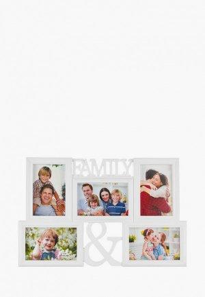 Фоторамка Elan Gallery 46,5х30,5х2 FAMILY. Цвет: белый