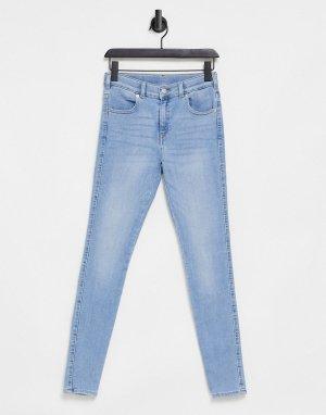 Светлые выбеленные зауженные джинсы Lexy-Голубой Dr Denim