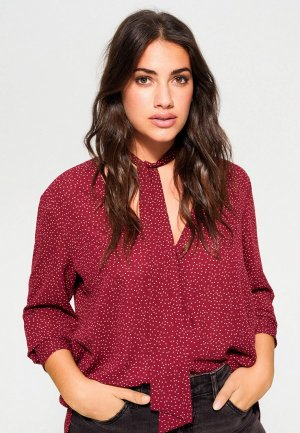 Блуза Violeta by Mango - MACROP6. Цвет: бордовый