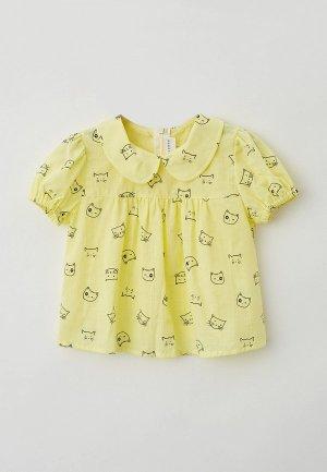 Блуза Ete Children. Цвет: желтый