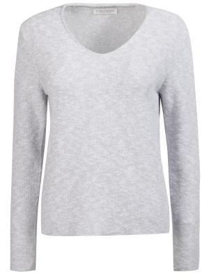 Однотонный пуловер Le Tricot Perugia. Цвет: серый
