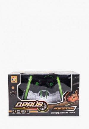 Игрушка радиоуправляемая 1Toy трюковая двухколёсная машина-перевёртыш. Цвет: белый