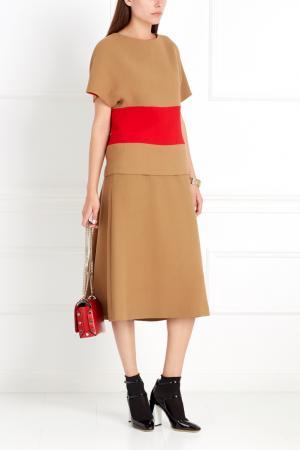Шерстяная юбка Chapurin. Цвет: желтый