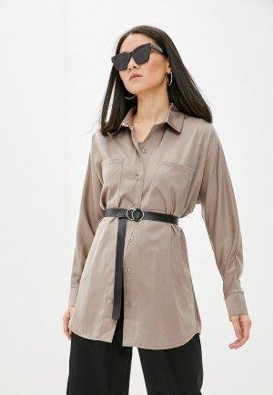 Блуза и топ Euros Style. Цвет: бежевый