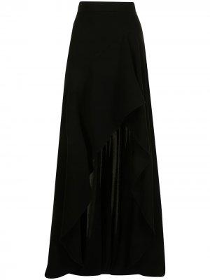 Юбка с завышенной талией и разрезом Elie Saab. Цвет: черный