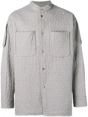 Стеганая куртка-рубашка в клетку Vivienne Westwood. Цвет: розовый