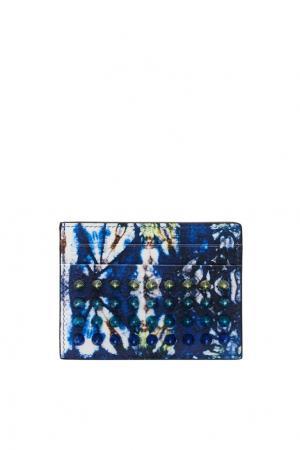 Кожаный футляр для карт с шипами Christian Louboutin. Цвет: multicolor