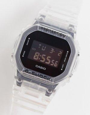 Цифровые часы в стиле унисекс с прозрачным ремешком G-Shock GM-5600SG-9ER-Прозрачный Casio
