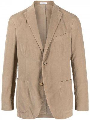 Вельветовый пиджак K-Jacket узкого кроя Boglioli. Цвет: нейтральные цвета