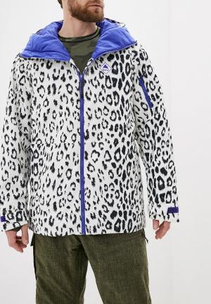 Куртка горнолыжная Burton M HILLTOP JK. Цвет: белый