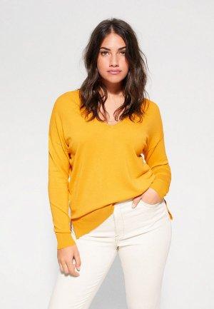 Пуловер Violeta by Mango - LISA. Цвет: желтый