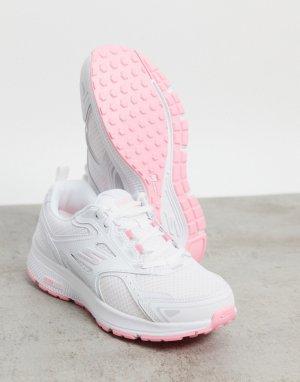 Бело-розовые кроссовки Go Run Consistent-Белый Skechers