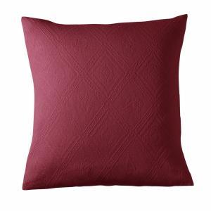 Чехол на подушку или наволочка из хлопковой жаккардовой ткани INDO LA REDOUTE INTERIEURS. Цвет: антрацит,бежевый,белый,бледный сине-зеленый,гранатовый,облачно-серый,серый,синий, индийский,экрю