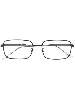 Очки в квадратной оправе Bottega Veneta Eyewear. Цвет: черный