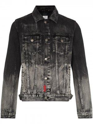 Джинсовая куртка Mayhem с эффектом потертости Ksubi. Цвет: черный