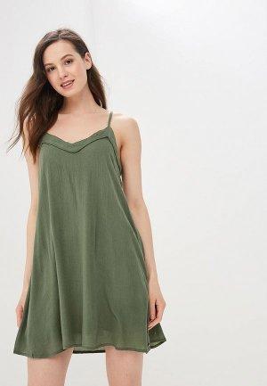 Сарафан Roxy. Цвет: зеленый