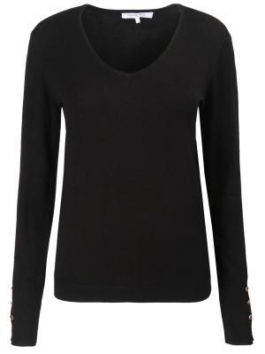 Пуловер с клепками Gerard Darel. Цвет: черный