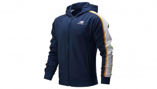 Куртки NB ATHLETICS TRACK HOODIE New Balance. Цвет: синий