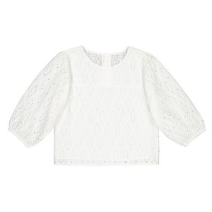 Блузка La Redoute. Цвет: белый