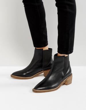 Кожаные ботинки челси на среднем каблуке Park Lane