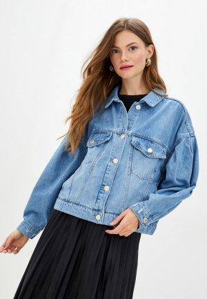 Куртка джинсовая DeFacto. Цвет: синий