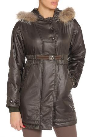 Пальто с капюшоном COAST WEBER & AHAUS. Цвет: болотный