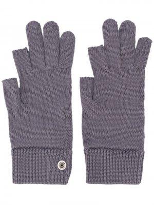 Трикотажные перчатки Rick Owens. Цвет: синий